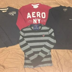 Abercrombie & Fitch 4pc lot long sleeve thermals